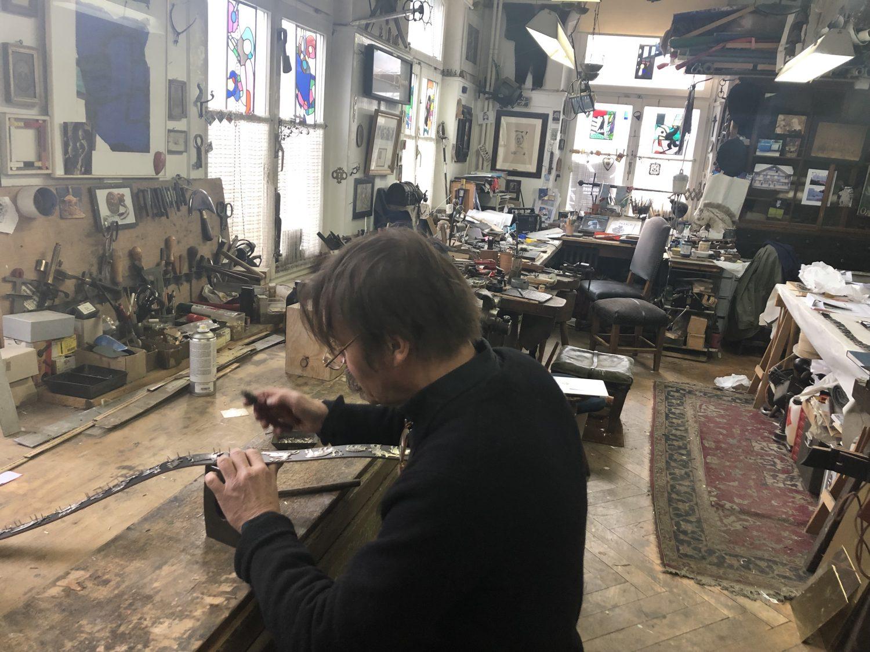 Moderne Kunst und altes Handwerk