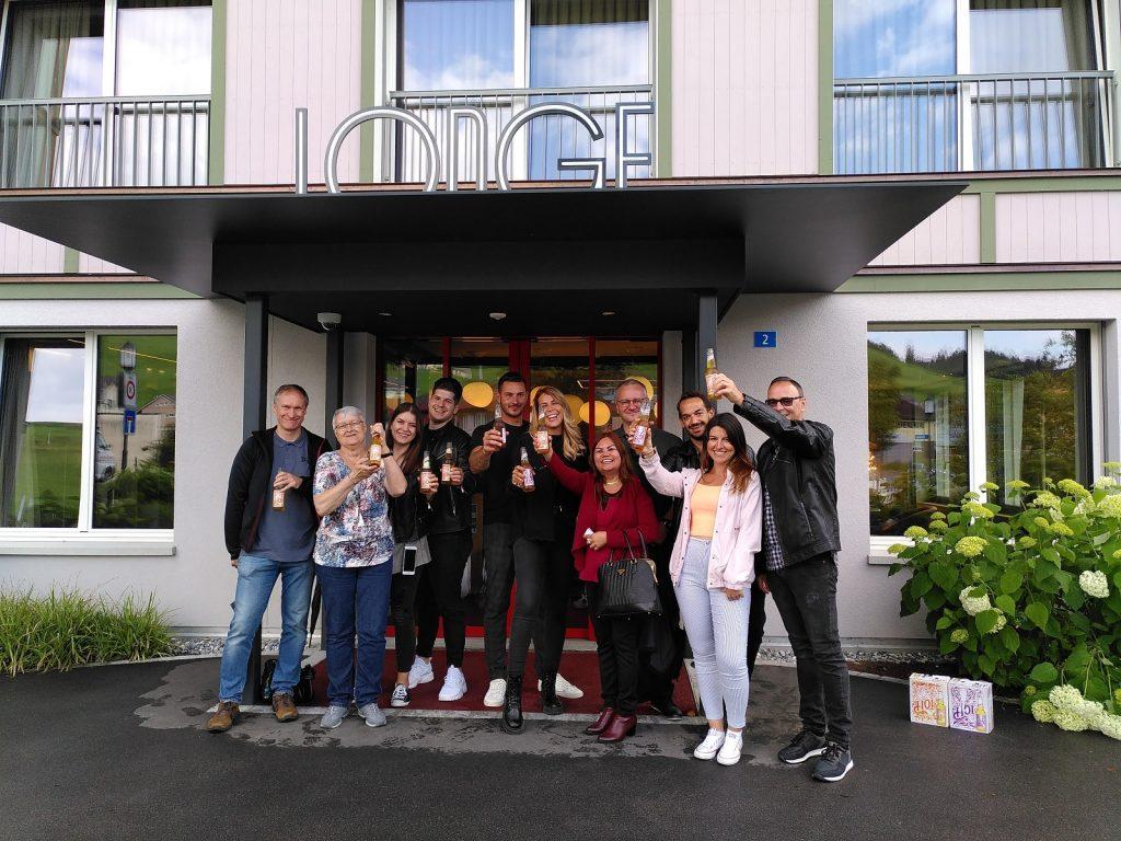 Blind-Degustation, Nebel-Drehen und Hof-Kulinarik: Der Bachelorette-Anlass mit Appenzeller Bier 2020