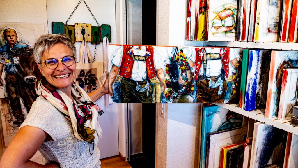 Read more about the article Traditionelles Gelb wird bei Sylvia Bühler auch mal zu Grün oder Blau